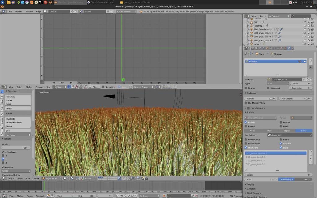 Grass Field Simulation