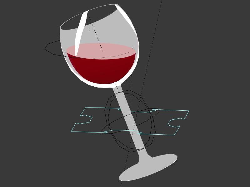 Open GL wine glass rig