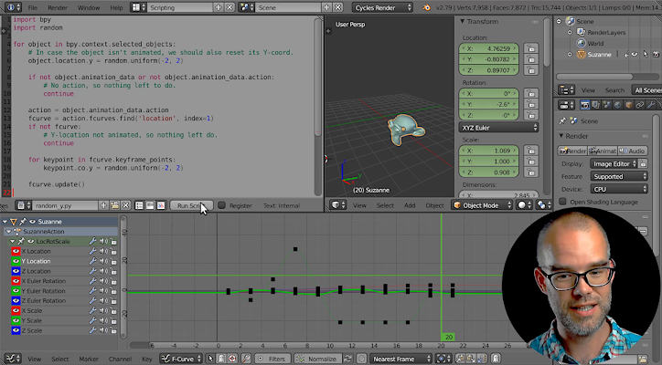 Sybren teaches Python Scripting with Blender